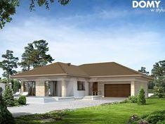 Projekt domu Eris II (wersja C) energo Modern Family House, Modern Bungalow House, Bungalow House Plans, Family House Plans, Modern House Plans, House Plans South Africa, Free House Plans, 4 Bedroom House Plans, Simple House Design