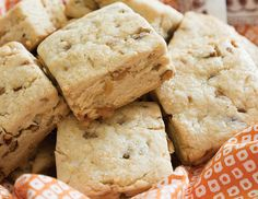 Loaded with toffee bits and pecans, these Toffee-Pecan Scones are a crunchy teatime treat.