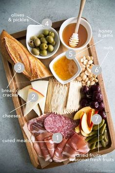45 Ideas For Cheese Board Platter Tapas Snacks Für Party, Appetizers For Party, Appetizer Recipes, Meat Appetizers, Game Night Snacks, Party Trays, Recipes Dinner, Dinner Ideas, Cheese Platter Board