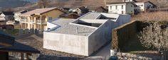 anako architecture designs swiss home resembling concrete fortress