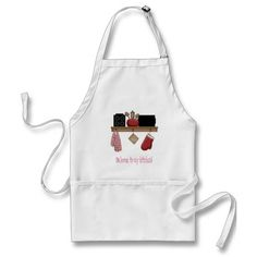 Whimsical apron with a country kitchen shelf says Welcome to my kitchen!   Great gift for Mom for Mother's Day, birthdays, or just because you love your Mom..    www.zazzle.com/digiscrapthat*