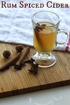 Spiced Apple Cider with Rum! #recipe #cider #cocktail