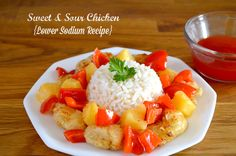 Sweet and Sour Chicken {Low Sodium Recipe}http://www.sofabfood.com/sweet-sour-chicken-low-sodium-recipe/