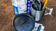 How to Cook in a Dutch Oven - Sunset Magazine Cooking Tools, Oven Cooking, Cooking Recipes, Stuffed Anaheim Peppers, Chicken Foil Packets, Campfire Desserts, Camping Meals, Camping Survival, Dutch Oven Camping