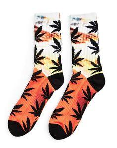 HUF Digital Plantlife Crew Sock Orange #StyleMadeEasy