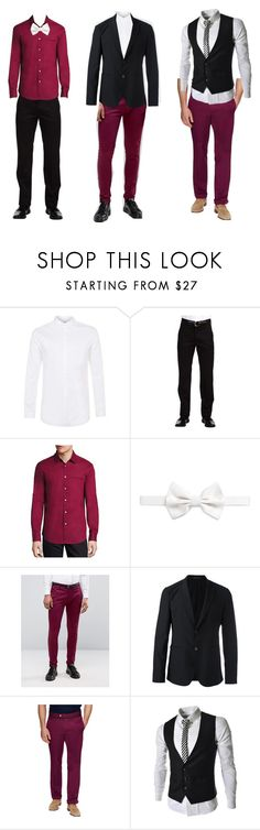 """Untitled #2"" by arinafkr ❤ liked on Polyvore featuring Topman, Dockers, John Varvatos, Armani Collezioni, ASOS, Emporio Armani and J.Lindeberg"