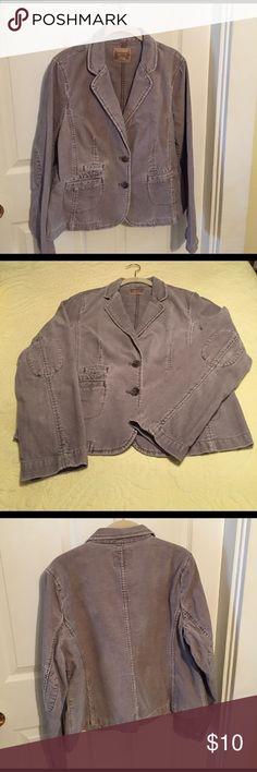 "Ruff Hewn Corduroy Blazer Cute blazer! Very soft corduroy fabric. Has a slightly worn look that is original. Machine washable. Rarely worn! Like new. Smoke free home. Bust measures appx 19"" Length 24"". Ruff Hewn Jackets & Coats Blazers"