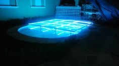 MOD NC-200PESP. Modules specially designed to cover pools, but can be used anytime. Fully transparent, with support frames and sills in aluminum, 12 mm tempered glass, LED perimeter lighting, automatic programs, without control. intelligent LED lighting 27 CH DMX. #led dance floor #lighted floor #smart led #party led #dancefloor light #led floor #led events #pistas iluminadas #pista de baile led #pistas luminosas #ness pistas #ness technology Led Dance, Light Led, In This Moment, Flooring, Glass, Outdoor Decor, Design, Drinkware, Corning Glass