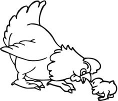a hen farm animal coloring pages animal coloring pages of - Drawing Coloring