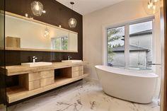 The vanity design is very clever. #bathroom