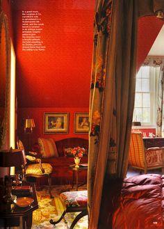 sensuous red bedroom by designer keith langham--12/18/12