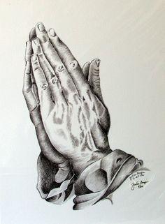 Pix For > Jesus Praying Hands Drawing