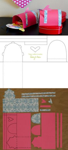 Free printable! How to make a mini paper mailbox from Daisy at Home.