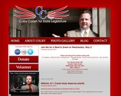 #Political Website for Colby Coash by Transformation Marketing.   www.transformationmarketing.com #nebraska
