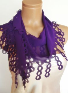 2012 summer fashion scarf new design purple bridal by smilingpoet, $20.90