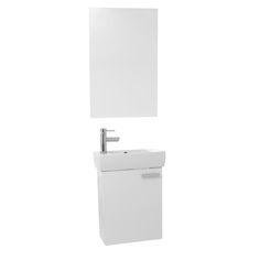 Image On Bathroom Vanity ACF C Inch Space Saving Larch Canapa Bathroom Vanity with Ceramic