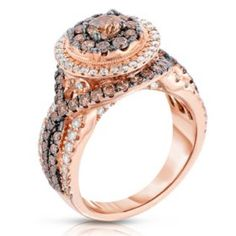 Fancy Brown Diamond Ring in Rose Gold - This classic, elegant ring is set in rose gold. This diamond bridal ring flashes with light and brilliance through its beautifully cut facets. Chocolate Diamond Wedding Rings, Diamond Pendant, Diamond Jewelry, Body Jewelry Shop, Geek Jewelry, Women's Jewelry, Jewelry Accessories, Modern Jewelry, Natural Jewelry