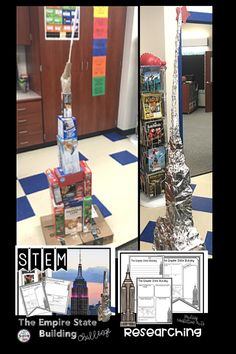 STEM The Empire State Building Activity is a fun way to connect a study of history and geography to STEM. Elementary students will love researching The Empire State Building