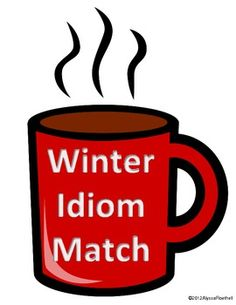 Winter Idiom Match Literacy Station for December