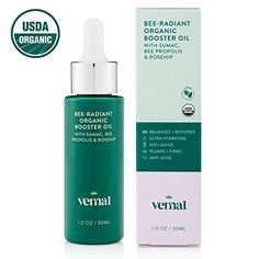 Vernal BeeRadiant Organic Cold Pressed Face Oil  USDA Certified Organic Super Antioxidant Complex W Bee Propolis Rosehip Oil  Jojoba Essential Oil Brighten Smooth AntiAging  1oz * Amazon most trusted e-retailer #AntiAging