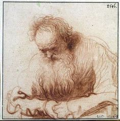 Rembrandt, a bit more than a gesture drawing but holding all that energy still - gorgeous!