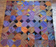 Tie Quilt (from Deb Rowden's Thrift Shop Quilts)