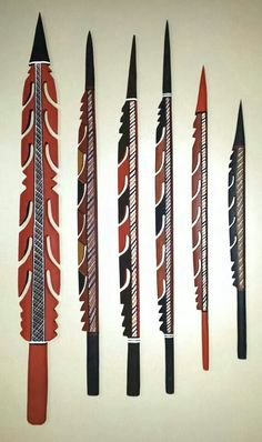 Aboriginal Art Trouble Spears by Russell Yilamara Brown