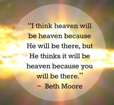 From Beth Moore