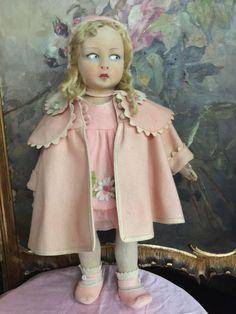 Красивая старинная lenci чувствовал кукла пресс-формы 110. Она чистая и без…