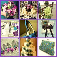 plumas de pavo como tema de decoracion