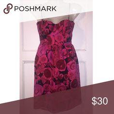 Selling this 0 VS MODA INTERNATIONAL PINK FLORAL BUSTIER DRESS on Poshmark! My username is: maybel05. #shopmycloset #poshmark #fashion #shopping #style #forsale #Moda International #Dresses & Skirts
