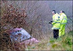 A bit more of a modern haunting -- in  2002 on the A3 near Burpham Surrey.  Just before Christmas 2002, police received calls from motorists who had seen a car suddenly veer off the road with its headlights blazing. Officers were dispatched to investigate, but could find no sign of a crashed vehicle at the scene. Further searching was ordered and police uncovered the wreckage of a car, containing the remains of a man... It was determined that the crash had happened nearly 5 months earlier.