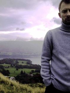 "dreamsasunder: "" thom yorke + sweater = formula for perfection. """
