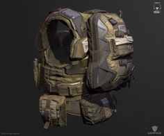 ArtStation - new model for crytek (soldier vest), Denis Didenko Tactical Equipment, Military Equipment, Tactical Gear, Cyberpunk, Armadura Cosplay, Science Fiction, Futuristic Armour, Future Weapons, Combat Gear