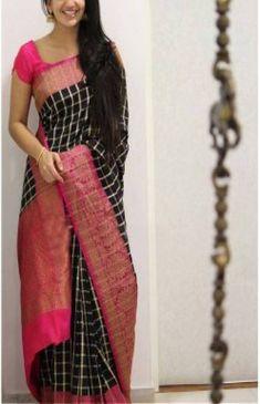 Simple Sarees, Trendy Sarees, Fancy Sarees, Saree Blouse Neck Designs, Fancy Blouse Designs, Tussar Silk Saree, Cotton Saree, Lehanga Saree, Lehenga