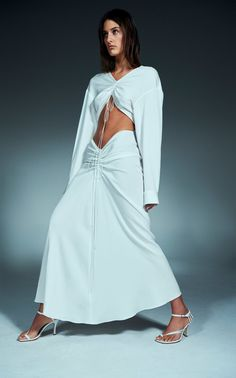 Christopher Esber Spring 2020 Ready-to-Wear Fashion Show - Vogue Fashion Week, Runway Fashion, High Fashion, Fashion Outfits, Vogue Editorial, Editorial Fashion, Vogue Brazil, Vogue Russia, Fashion Gone Rouge