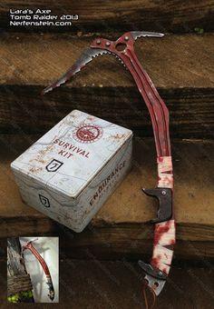 Lara Croft's Ice Axe prop replica Tomb Raider 2013 by nerfenstein