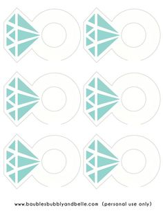 Free Printable: Diamond Ring Drink Tags from Baubles & Belle Breakfast At Tiffanys Party Ideas, Diamond Party, Diamond Theme, Drink Tags, Tiffany's Bridal, Tiffany Party, Bride Shower, Denim And Diamonds, Bachlorette Party