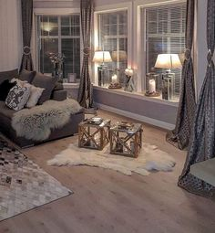 146 cozy living room ideas and designs page 14 Cozy Living Rooms, Living Room Grey, Home Living Room, Apartment Living, Living Room Designs, Living Room Decor, Dining Room, Cozy Apartment, Dream Rooms