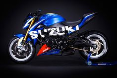 """Suzuki GSX-S 1000 by HPC-Power . I think this model will be the one to """" paint job"""" once they are in the used market, just like the cult GSX/ R range, amazing lines Suzuki Gsx, Suzuki Bikes, Suzuki Cars, Suzuki Motorcycle, Cb 300, Cafe Racer Moto, Motorbike Design, Motocross Bikes, Bikes For Sale"""
