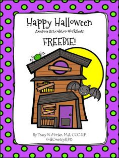 Speechie Freebies: A Halloween TREAT for YOU! Articulation Worksheets. Pinned by SOS Inc. Resources. Follow all our boards at pinterest.com/sostherapy/ for therapy resources.