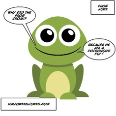 Frog Joke Comic - Halloween Jokes Halloween Jokes, Cute Frogs, Comics, Fictional Characters, Check, Comic Books, Comic Book, Comic, Cartoons