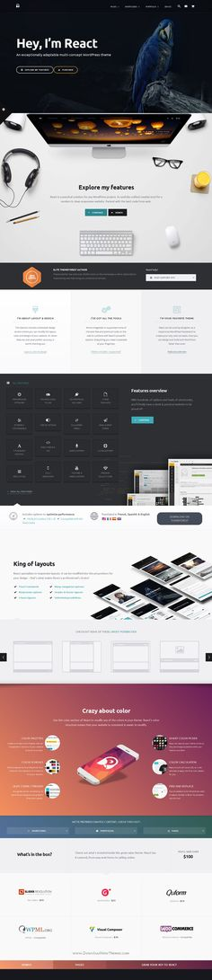 React is amazing Responsive WordPress Theme for multipurpose website. #web #template Download Now!
