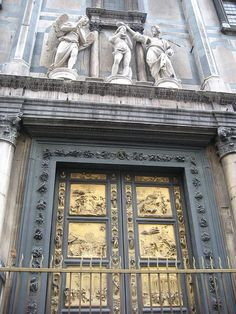 The Bapistry doors in .Florence, Italy