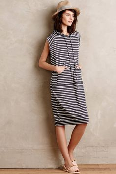 Striped Hoodie Cover-Up