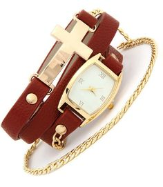 Leather Wrap Watch via Thorpe's Emporium. Click on the image to see more!