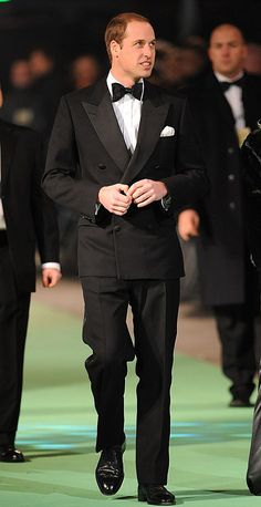 The Duke of Cambridge arriving for the UK Premiere of The Hobbit: An Unexpected Journey at Leicester Square, London
