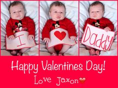 Valentines day to dad from baby-print out on nice paper and frame or make into business card for wallet