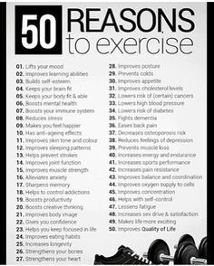 so many benefits #exercise