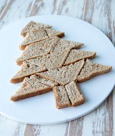 Joulukuusi-voileipäkakku | Reseptit | Kinuskikissa Sandwich Cake, Sandwiches, No Salt Recipes, Yams, Yummy Cakes, Food Art, Merry Christmas, Goodies, Food And Drink